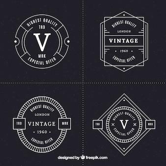 Labelscollectie in vintage stijl