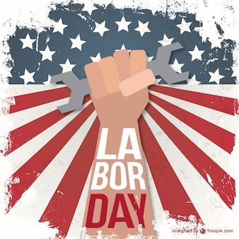 Labor day grunge illustratie