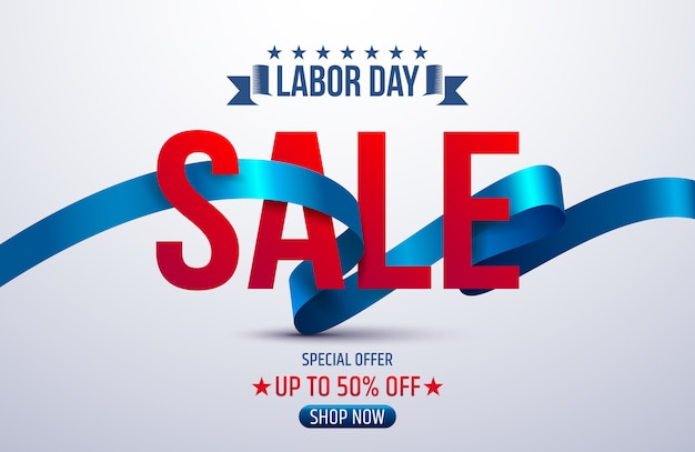 Labor day sale promotie reclamebanner