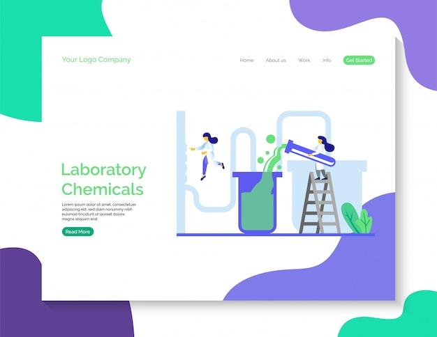 Laboratorium chemicaliën bestemmingspagina
