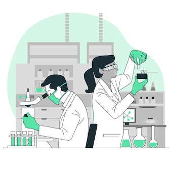 Laboratorium concept illustratie