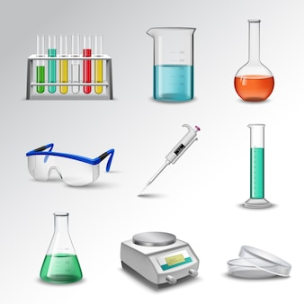 Laboratoriumapparatuur pictogrammen