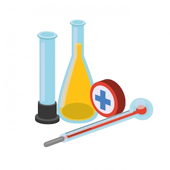 Laboratoriuminstrumenten geïsoleerd