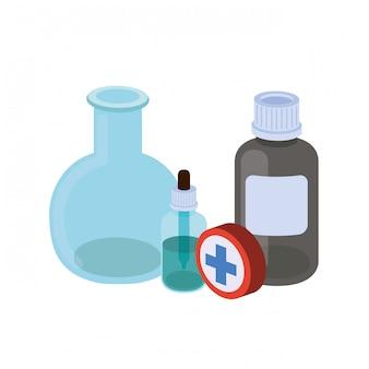 Laboratoriuminstrumenten met geïsoleerde geneesmiddelen
