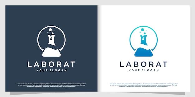 Labs-logo met creatieve elementstijl premium vector deel 3