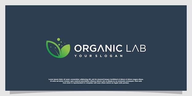 Labs-logo met creatieve elementstijl premium vector deel 4
