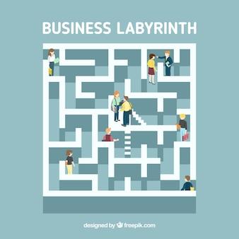 Labyrint bedrijfsconcept met moderne stijl