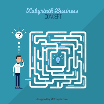 Labyrint bedrijfsconceptenachtergrond