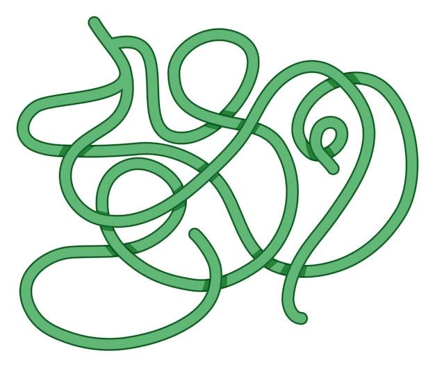 Labyrint sjabloon met groen pad