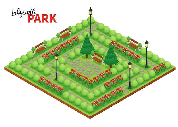 Labyrint spel illustratie