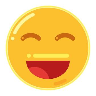 Lachend gezicht met open mond