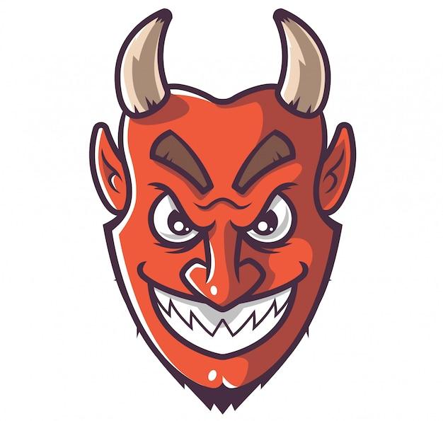 Lachend gezicht van de duivel.