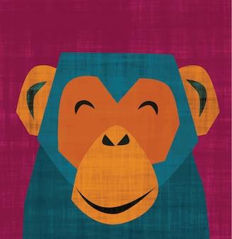 Lachende aap
