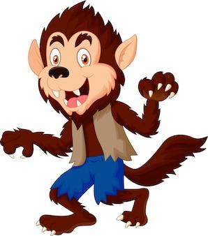 Lachende cartoon weerwolf
