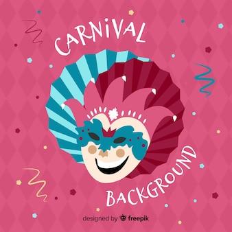 Lachende masker carnaval achtergrond