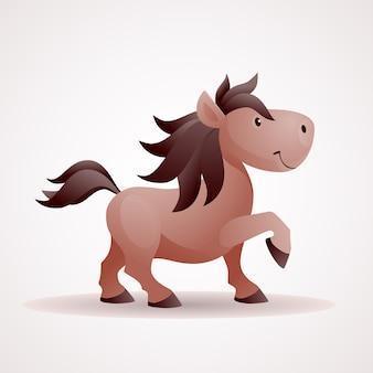 Lachende paard cartoon afbeelding