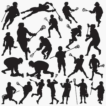 Lacrosse silhouetten