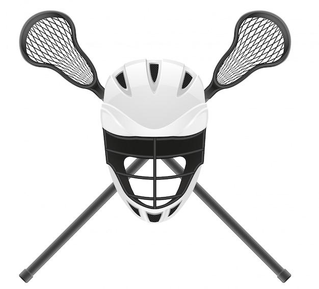 Lacrosse-uitrusting.