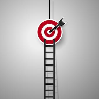 Ladder naar doel voor bedrijfsconcept