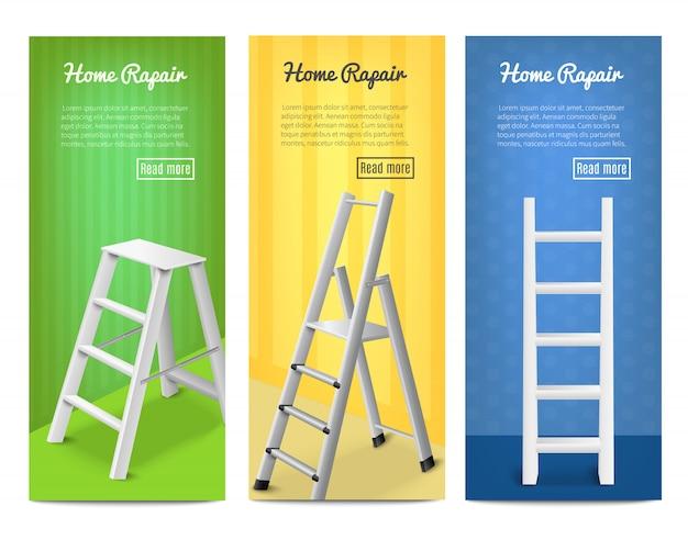 Ladders realistische banners set