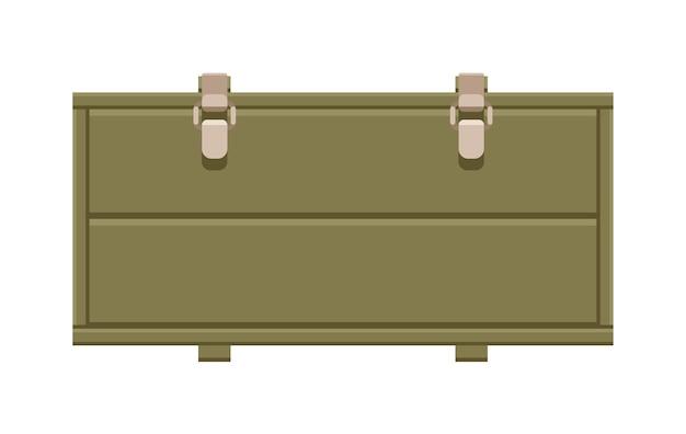 Ladecontainer met grendels geïsoleerd op een witte achtergrond
