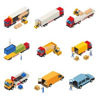 Laden van goederen set