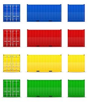 Lading container vectorillustratie