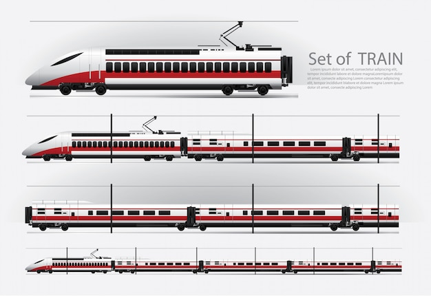 Ladingstrein op een spoorweg vectorillustratie