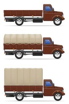 Ladingsvrachtwagen voor vervoer van goederen vectorillustratie