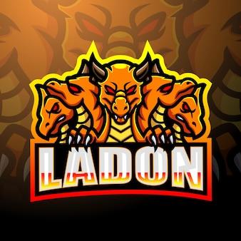 Ladon mascotte esport logo ontwerp