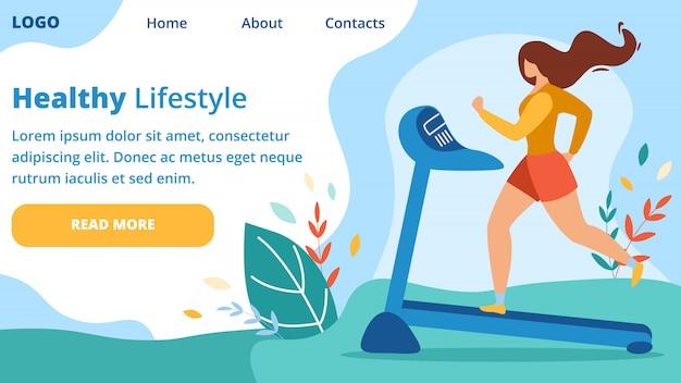 Lady trainen op loopband, lichamelijke oefening