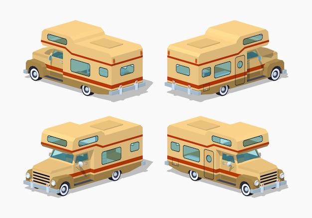 Lage poly bruine camper
