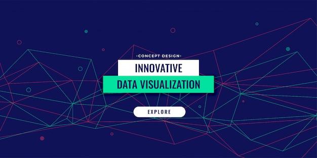 Lage poly de banner vectorillustratie van de lijnentechnologie