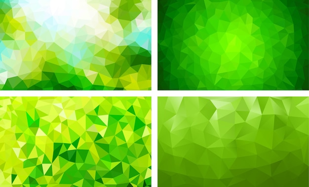 Lage poly groene achtergrondkleur