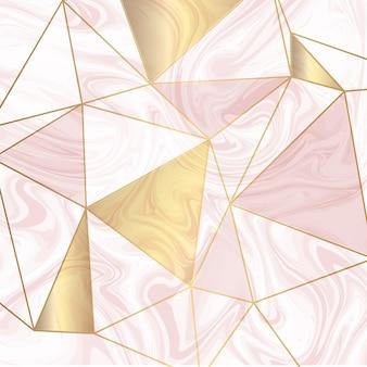 Lage poly op marmeren textuur
