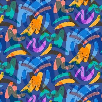 Lagen van penseelstreken naadloze patroon
