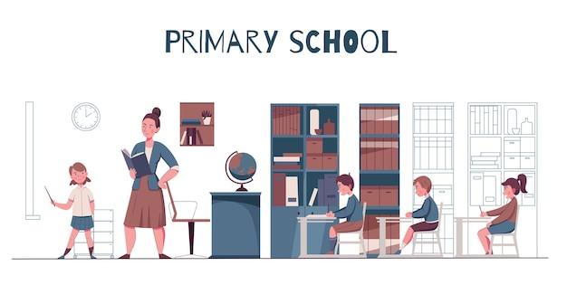 Lagere school illustratie