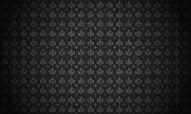 Lai thai patroon zwarte achtergrond vectorillustratie