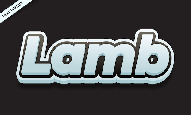 Lam tekst effect ontwerp vector