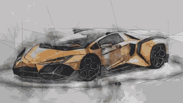 Lamborghini-lijn en waterverf