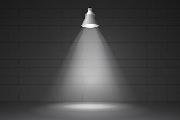 Lamp aan de muur realistisch