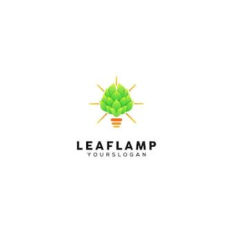Lamp blad kleurrijke logo ontwerpsjabloon