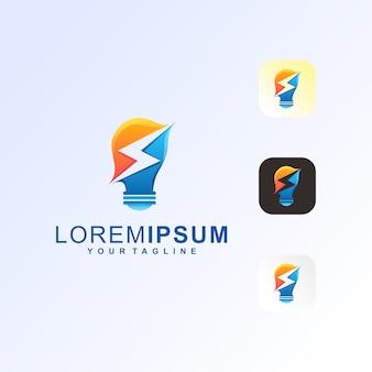Lamp bolt premium logo