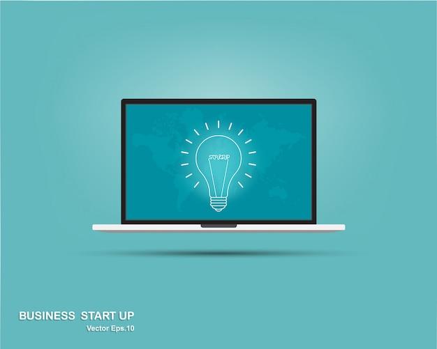 Lamp in laptop