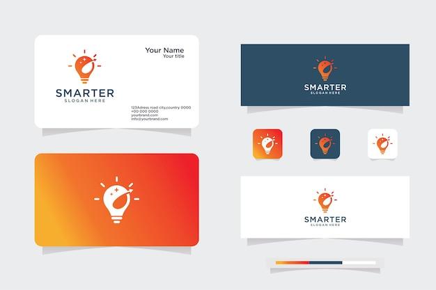Lamp logo idee ontwerp concept digitaal symbool en licht pictogram vector slim idee logo gebruikt voor studio
