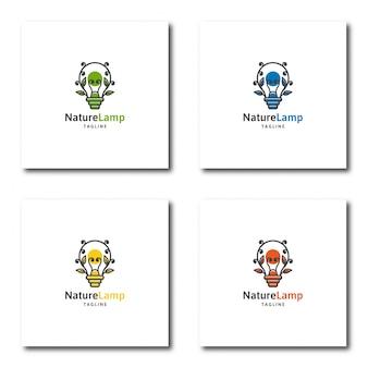 Lamp natuurlijke logo sjabloon