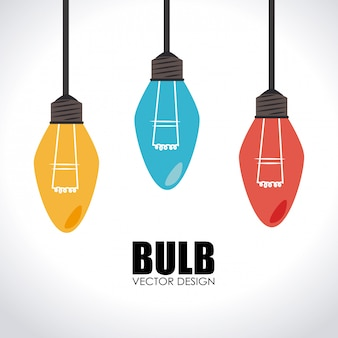 Lamp ontwerp illustratie
