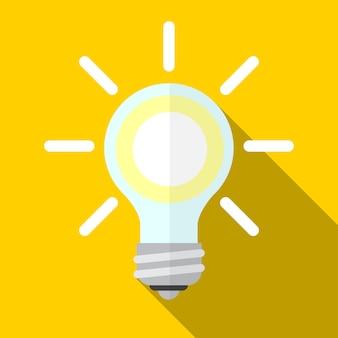 Lamp platte pictogram illustratie geïsoleerde vector teken symbool