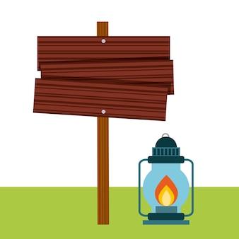 Lamp van campingontwerp