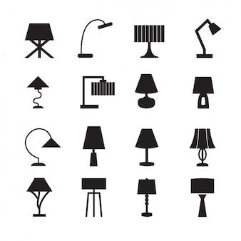 Lampen iconen collectie